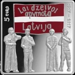 Монета > 5евро, 2017 - Латвия  (Латгальский конгресс) - reverse