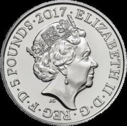 Münze > 5Pfund, 2017 - Vereinigtes Königreich   (99. Veteranentag) - obverse