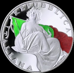 Coin > 5euro, 2018 - Italy  (70th Anniversary - Constitution of the Italian Republic) - obverse
