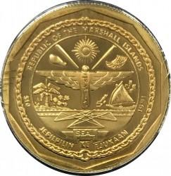Moneda > 10dollars, 1991 - Illes Marshall  (Caça Yakovlev Yak-9) - obverse