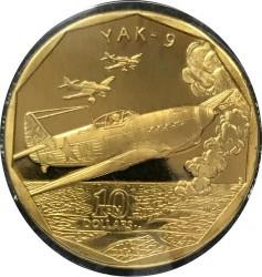 Moneda > 10dollars, 1991 - Illes Marshall  (Caça Yakovlev Yak-9) - reverse