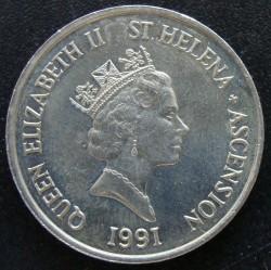 Монета > 10пенсов, 1991 - Острова Святой Елены и Вознесения  - obverse