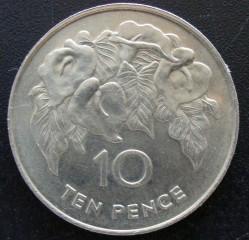 Монета > 10пенсов, 1991 - Острова Святой Елены и Вознесения  - reverse