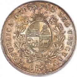 Moneda > 1peso, 1844 - Uruguai  - obverse