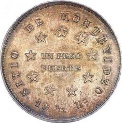 Moneda > 1peso, 1844 - Uruguai  - reverse