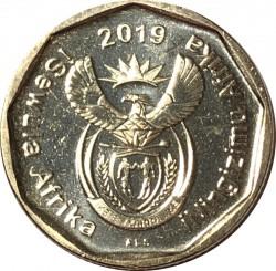 Moneta > 50centów, 2019 - Afryka Południowa  - obverse