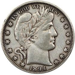 Minca > ½dolára, 1892-1915 - USA  (Barber Half Dollar) - obverse