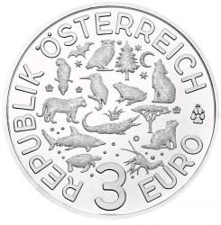 Moneta > 3euro, 2019 - Austria  (Żółw) - obverse