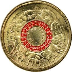 Coin > 2dollars, 2015 - Australia  (100th Anniversary - Gallipoli Landing /Lest We Forget/) - reverse
