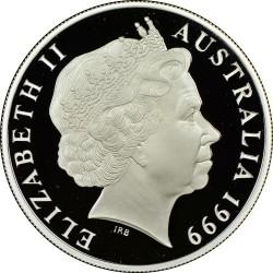 Moneta > 1doleris, 1999 - Australija  (Pair of Kangaroos) - obverse