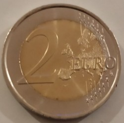 Coin > 2euro, 2019 - Spain  (Spanish UNESCO - Old Town of Avila) - reverse