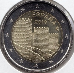 Moneda > 2euros, 2019 - España  (Spanish UNESCO - Old Town of Avila) - obverse