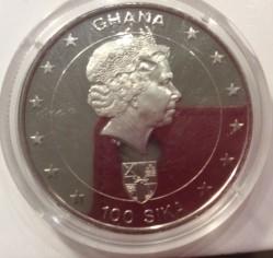 Moneta > 100sika, 2003 - Ghana  (50° anniversario - Incoronazione della regina Elisabetta II) - obverse