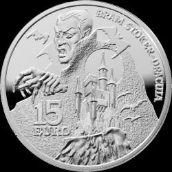 Moneda > 15euros, 2018 - Irlanda  (Bram Stoker - Dracula) - reverse