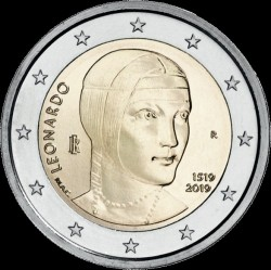 Moneta > 2eurai, 2019 - Italija  (500th Anniversary - Death of Leonardo da Vinci) - obverse