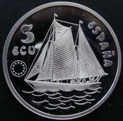 Münze > 5ECU, 1993 - Spanien  (Don Juan de Borbón / polierte Platte) - obverse