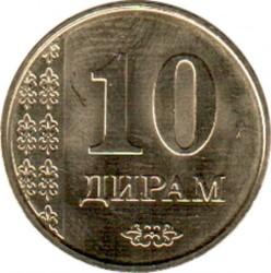 Монета > 10дирама, 2017-2019 - Таджикистан  - reverse
