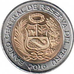 Moeda > 2soles, 2016-2019 - Peru  - reverse