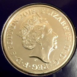 Coin > 5 pounds, 2018 - United Kingdom  (Remembrance Day) - obverse