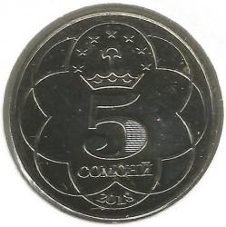 Νόμισμα > 5Σομόνι, 2018 - Τατζικιστάν  - obverse