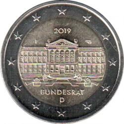 Moneta > 2euro, 2019 - Niemcy  (70 rocznica - Bundesrat) - obverse