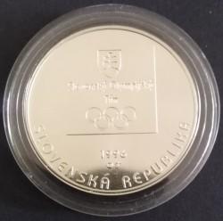 Moneta > 200corone, 1996 - Slovacchia  (100° anniversario dei giochi olimpici - Squadra olimpica slovacca) - obverse