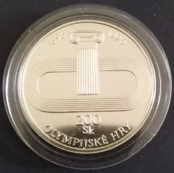 Moneta > 200corone, 1996 - Slovacchia  (100° anniversario dei giochi olimpici - Squadra olimpica slovacca) - reverse