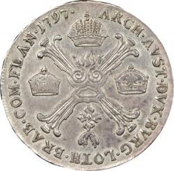 Moneta > ½kronenthalera, 1792-1797 - Niderlandy Austriackie  - reverse