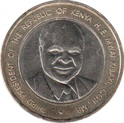 Moneta > 40scellini, 2003 - Kenya  (40° anniversario - Indipendenza) - obverse