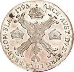 Монета > ½кроненталер, 1792-1797 - Австрийска Нидерландия  - reverse
