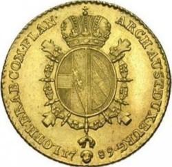 Monēta > ½soverēns, 1786-1790 - Austrian Netherlands  - reverse