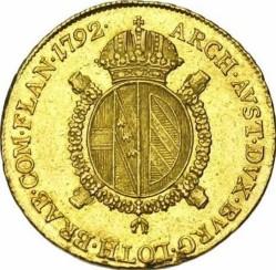 Монета > ½соверен, 1792-1798 - Австрийска Нидерландия  - reverse