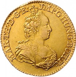 Monēta > 1soverēns, 1749-1751 - Austrian Netherlands  - obverse