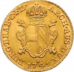 Monēta > 1soverēns, 1749-1751 - Austrian Netherlands  - reverse