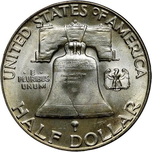 Coins & Paper Money Paper Money: World Staaten Vereinigte Usa United States Franklin Halber Dollar 1951 S San Francisco