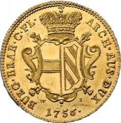 Moneda > 1sovereign, 1756-1761 - Països Baixos Austríacs  - reverse