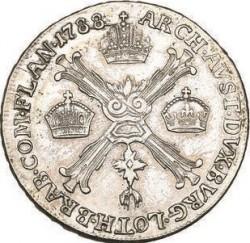 Монета > ¼кроненталер, 1788-1790 - Австрийска Нидерландия  - reverse