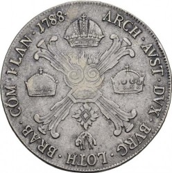 Moneta > ½kronenthalera, 1786-1790 - Niderlandy Austriackie  - reverse