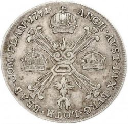 Moneta > ¼kronenthaler, 1790-1792 - Niderlandy Austriackie  - reverse