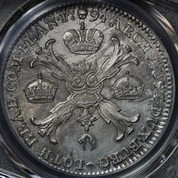 Монета > 1кроненталер, 1792-1798 - Австрийска Нидерландия  - reverse