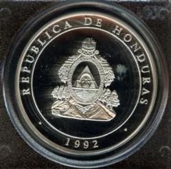 Монета > 100лемпира, 1992 - Хондурас  (500th Anniversary - Discovery of America) - obverse