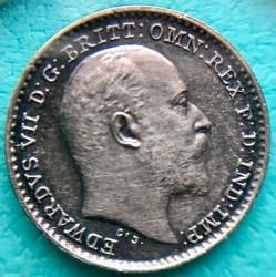Moneta > 1pens, 1902 - Wielka Brytania  (Srebro /szary kolor/) - obverse
