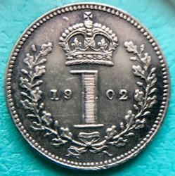 Moneta > 1pens, 1902 - Wielka Brytania  (Srebro /szary kolor/) - reverse