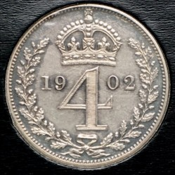 Кованица > 4пенија, 1902 - Уједињено Краљевство  - reverse