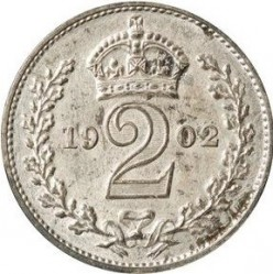 Кованица > 2пенија, 1902 - Уједињено Краљевство  - reverse