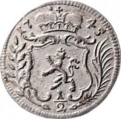 Münze > ½Kreuzer, 1744-1745 - Österreich   - obverse