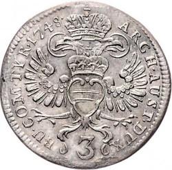 Moneta > 3kreuzer, 1746-1749 - Austria  - reverse