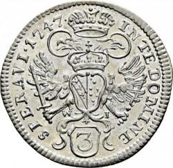 Münze > 3Kreuzer, 1747-1750 - Österreich   - reverse
