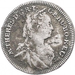 Монета > 3кройцера, 1748-1765 - Австрия  (Maria Theresa - Eagle with arms of Tyrol) - obverse
