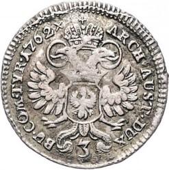 Монета > 3кройцера, 1748-1765 - Австрия  (Maria Theresa - Eagle with arms of Tyrol) - reverse